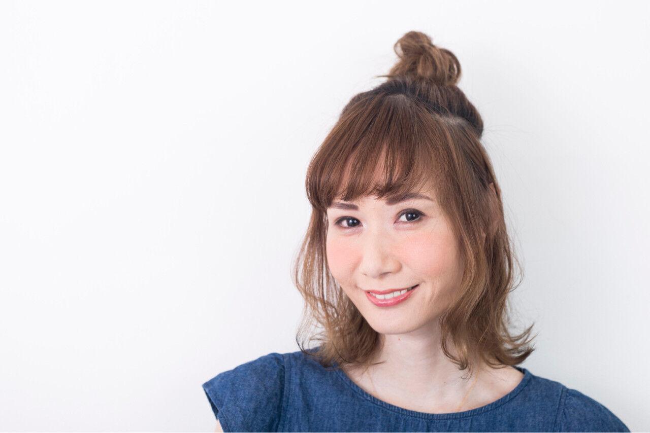 ナチュラル 簡単ヘアアレンジ ヘアアレンジ デートヘアスタイルや髪型の写真・画像