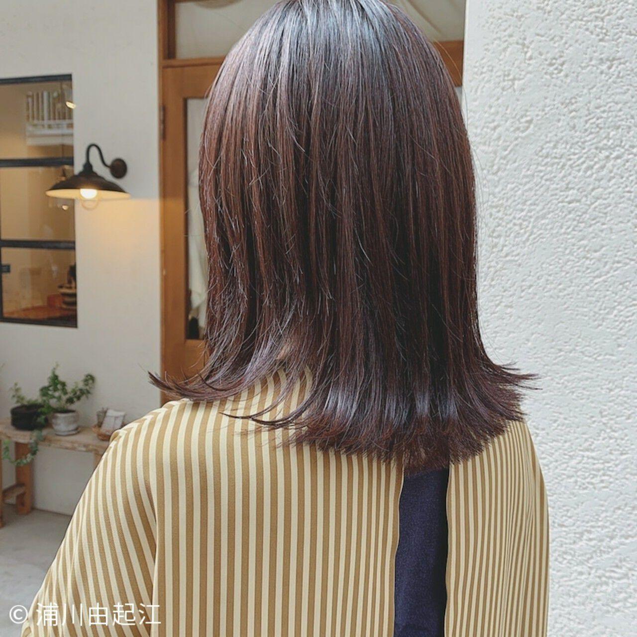 秋冬スタイル ボブ 切りっぱなしボブ 大人かわいいヘアスタイルや髪型の写真・画像