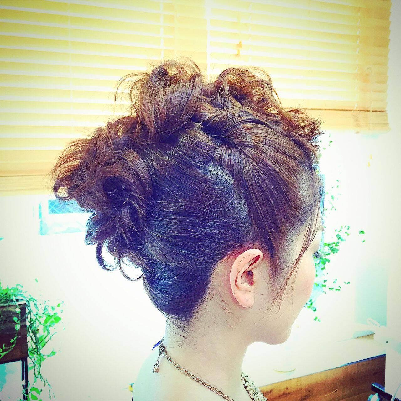 結婚式 編み込み ヘアアレンジ ウェーブヘアスタイルや髪型の写真・画像