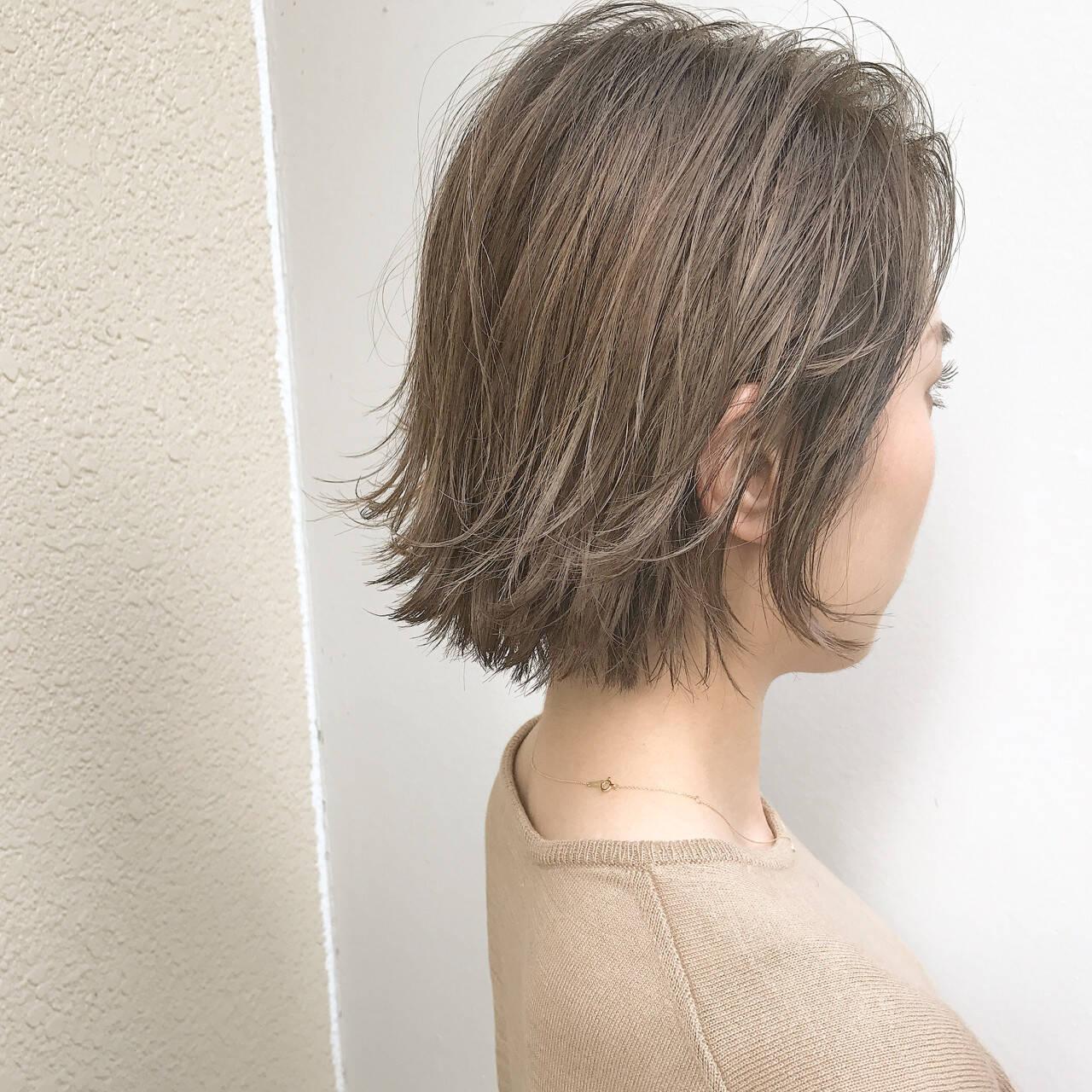 スポーツ ボブ ハイライト 外国人風ヘアスタイルや髪型の写真・画像