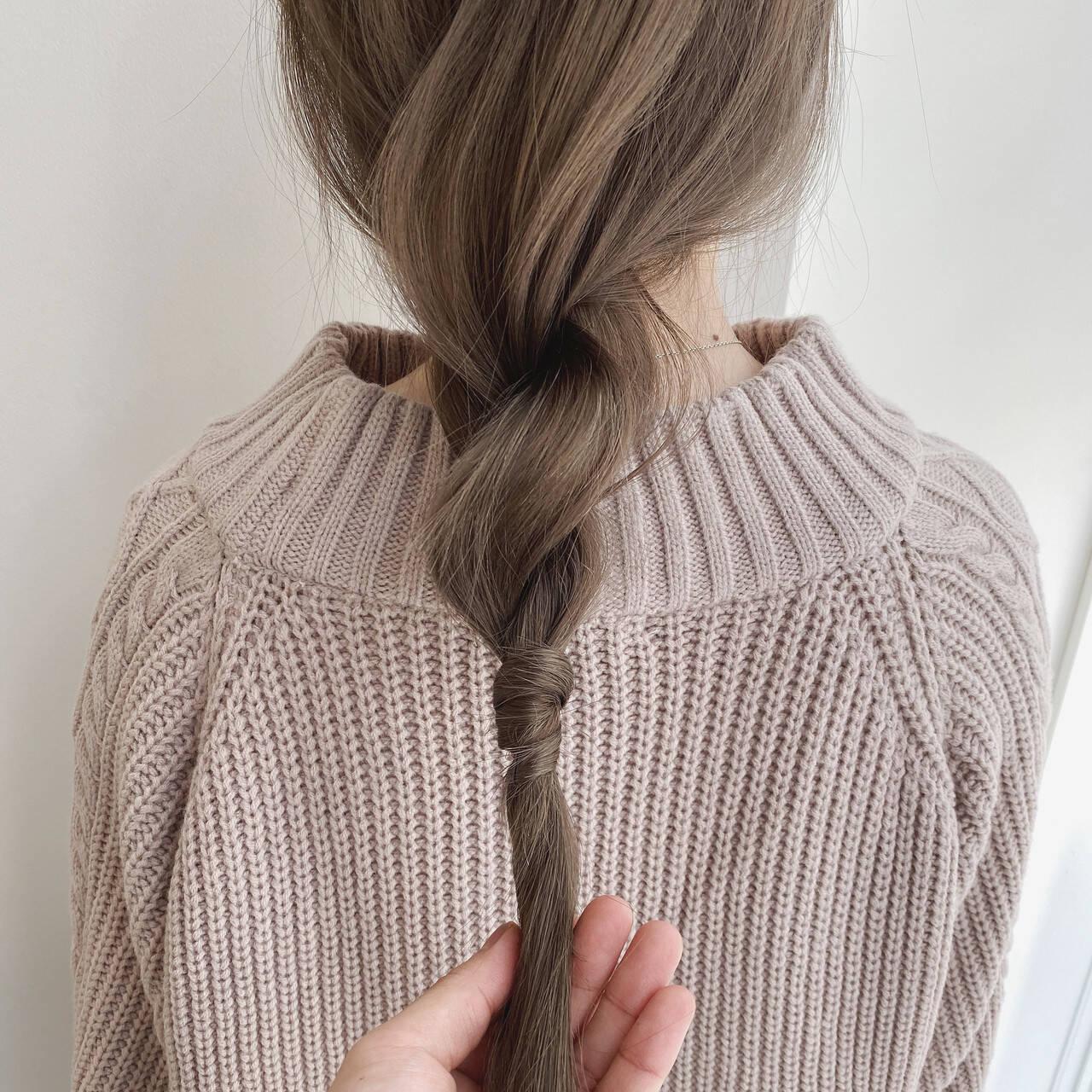 シアーベージュ ヘアアレンジ ナチュラル ナチュラルベージュヘアスタイルや髪型の写真・画像