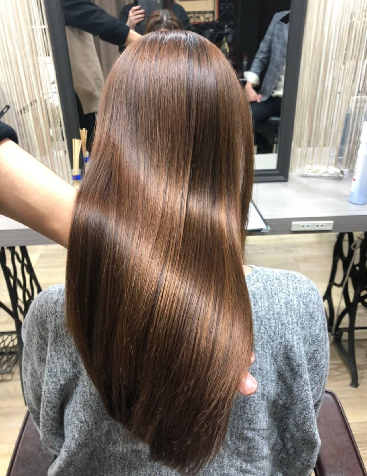 髪の病院 ナチュラル 名古屋市守山区 セミロングヘアスタイルや髪型の写真・画像