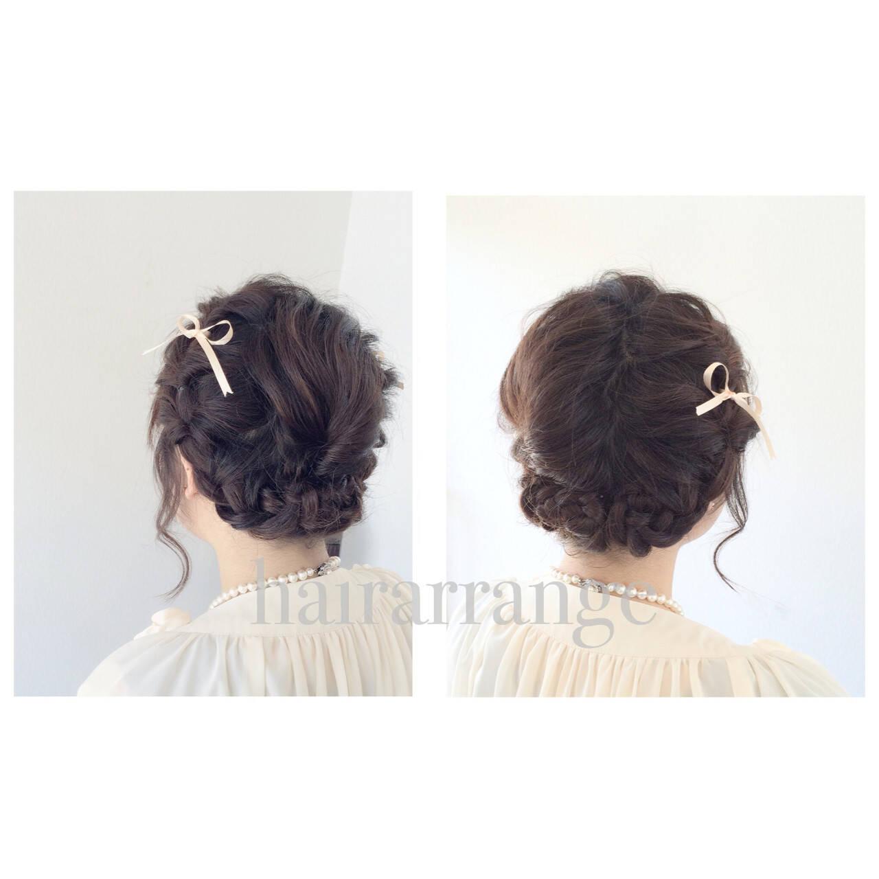 簡単ヘアアレンジ フェミニン 結婚式 二次会ヘアスタイルや髪型の写真・画像