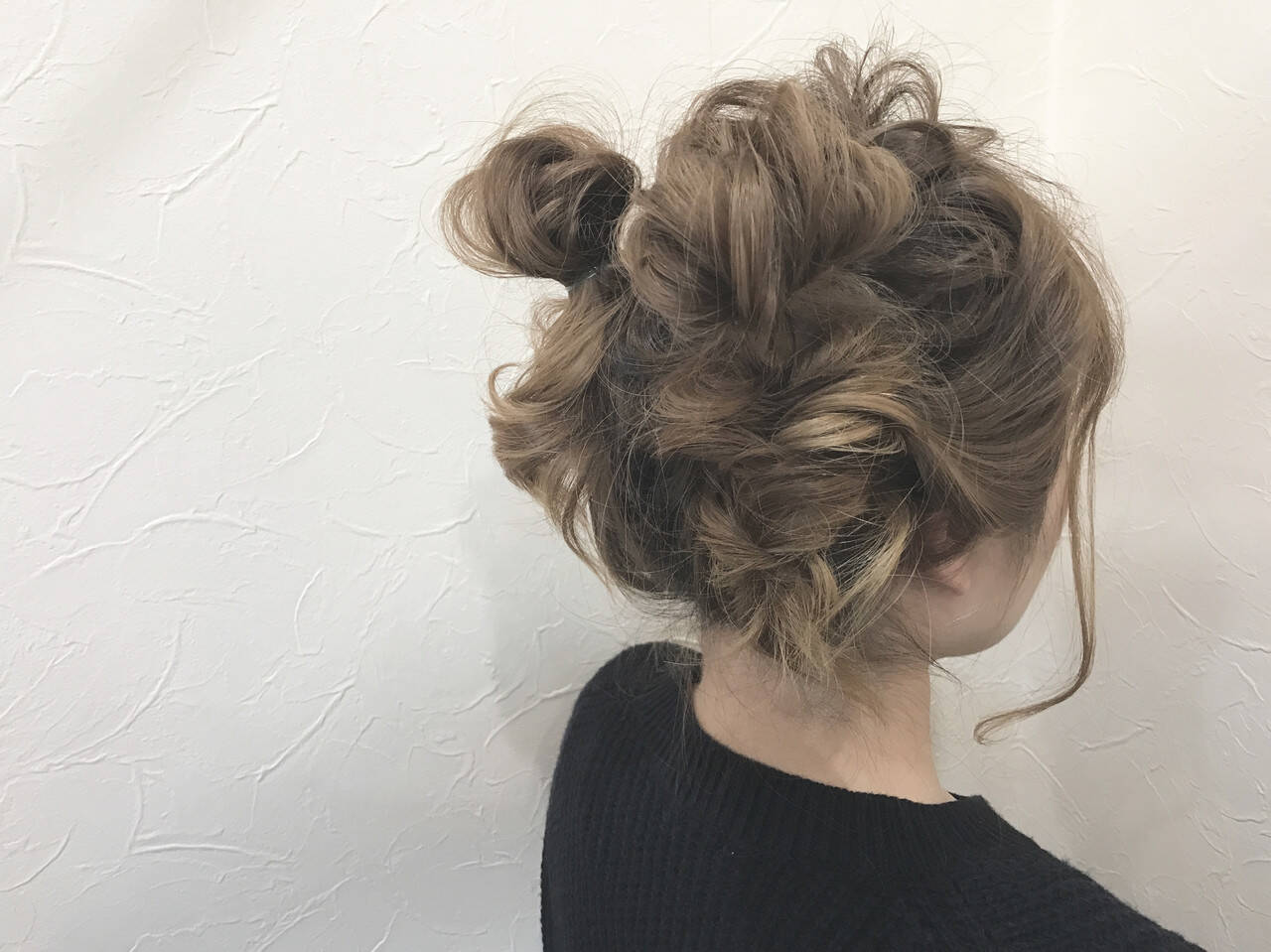 ヘアアレンジ ガーリー ふわふわヘアアレンジ ミディアムヘアスタイルや髪型の写真・画像