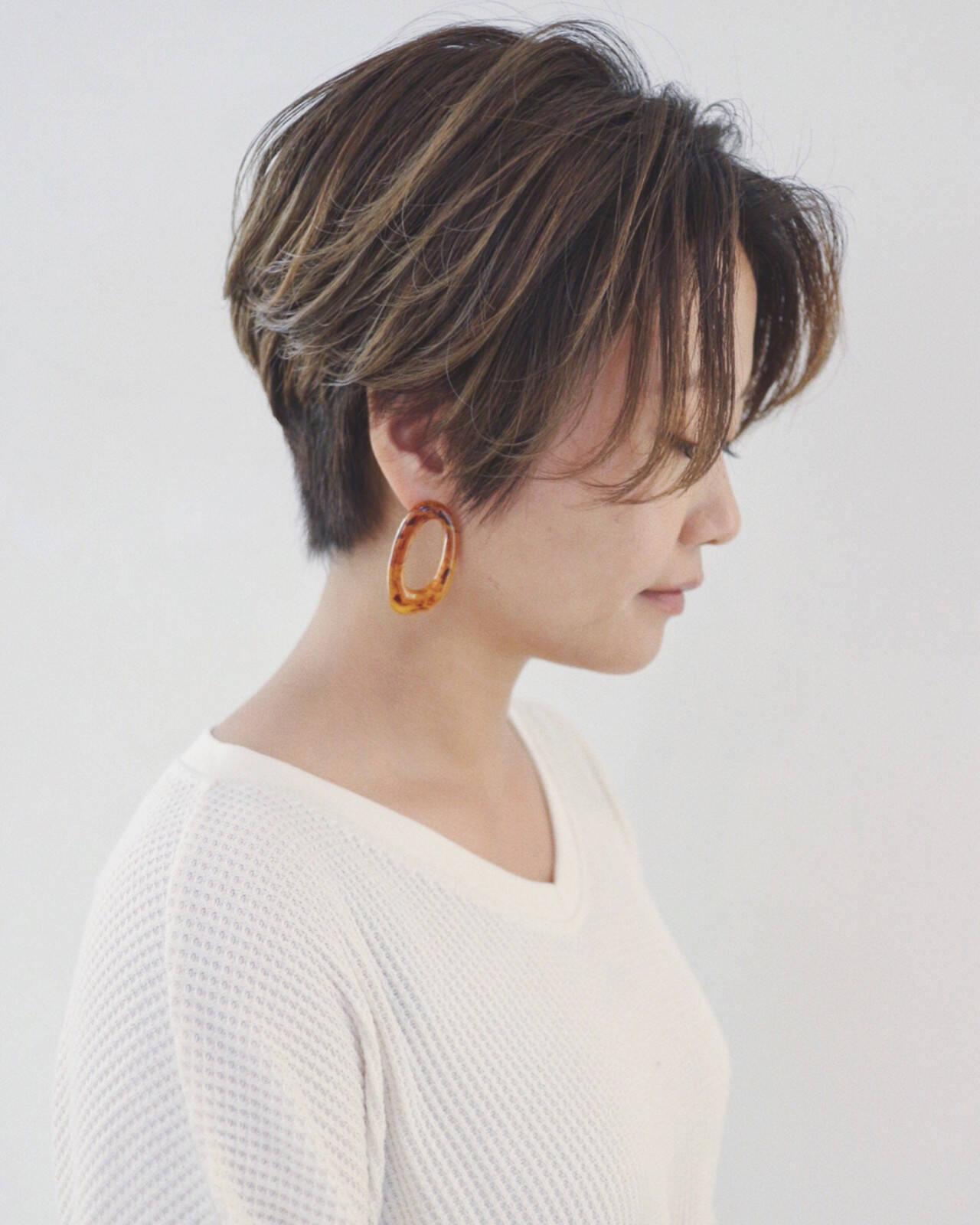 ショート モード マニッシュ かっこいいヘアスタイルや髪型の写真・画像