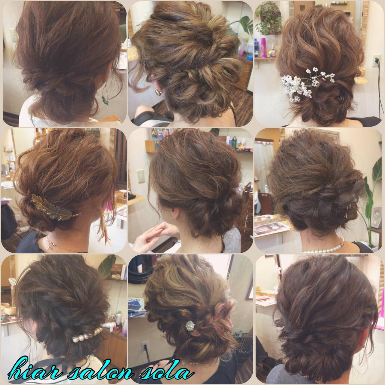 大人かわいい セミロング 着物 アップスタイルヘアスタイルや髪型の写真・画像