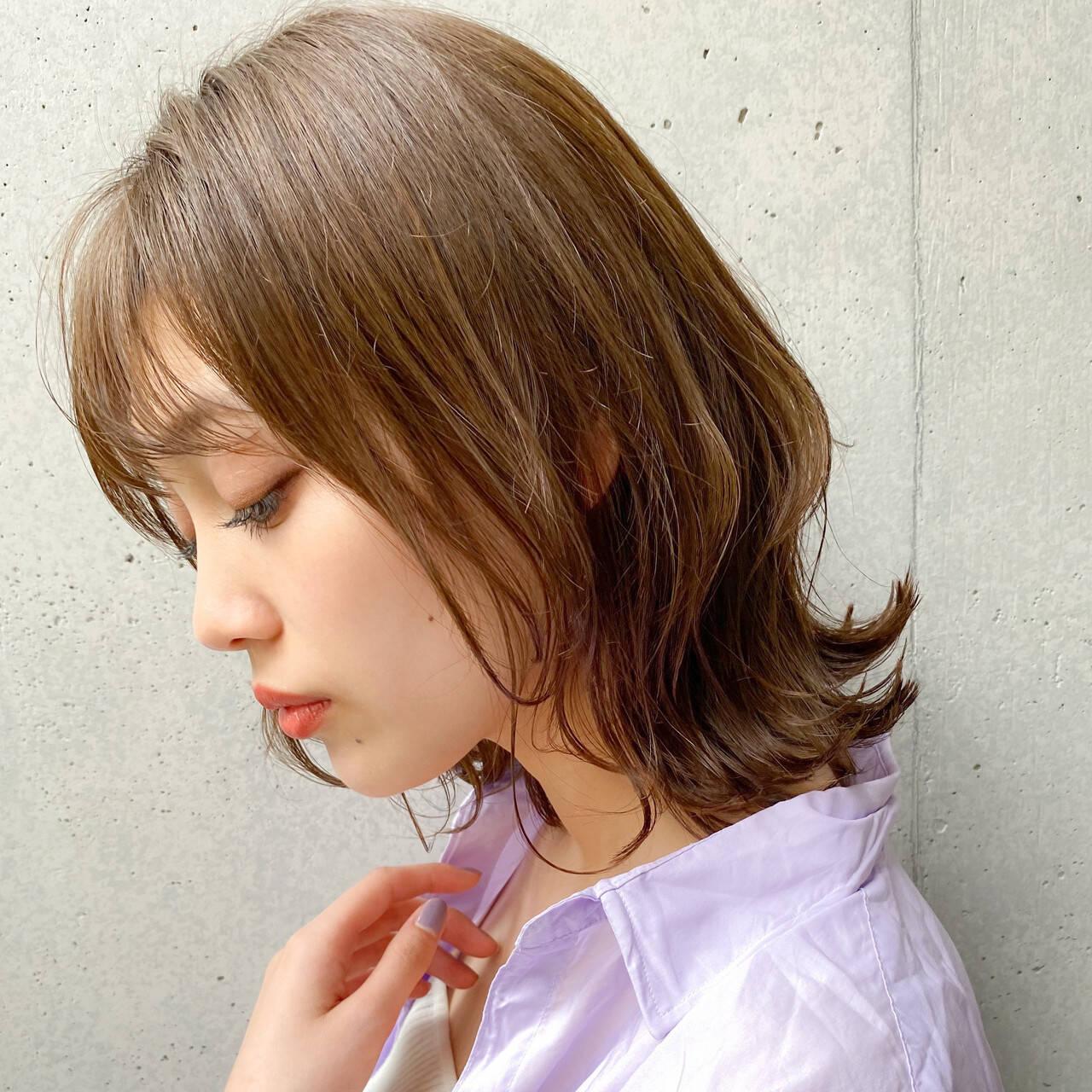 大人かわいい ナチュラル 簡単スタイリング 毛先パーマヘアスタイルや髪型の写真・画像