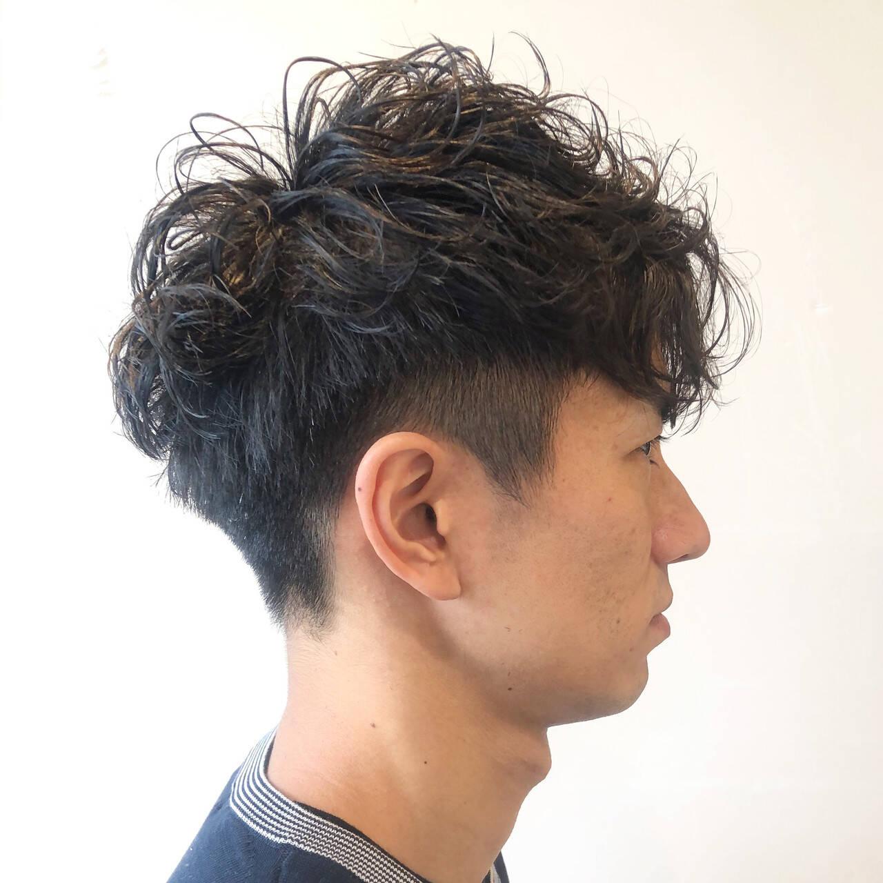 ショート 無造作パーマ ストリート メンズヘアスタイルや髪型の写真・画像