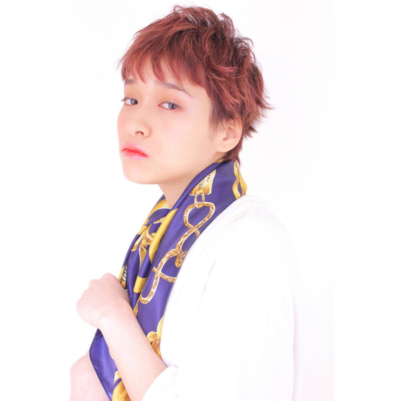 ベリーショート ショート 外国人風カラー フェミニンヘアスタイルや髪型の写真・画像