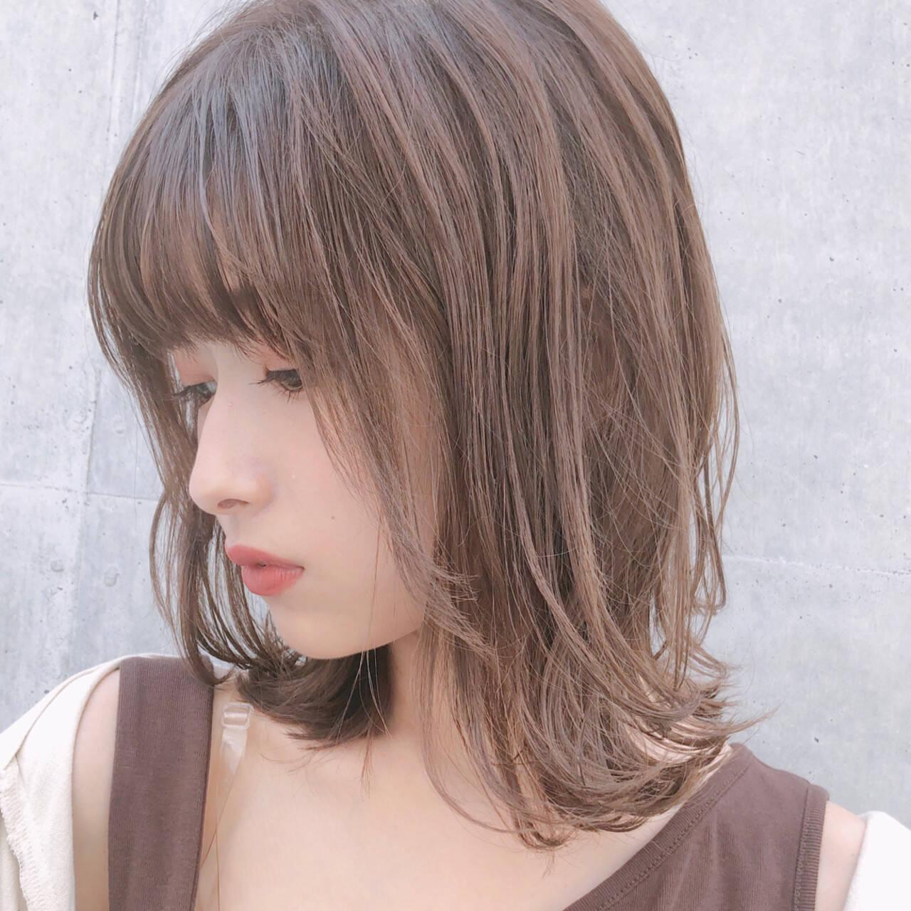アンニュイほつれヘア ミディアム 大人かわいい ゆるふわヘアスタイルや髪型の写真・画像