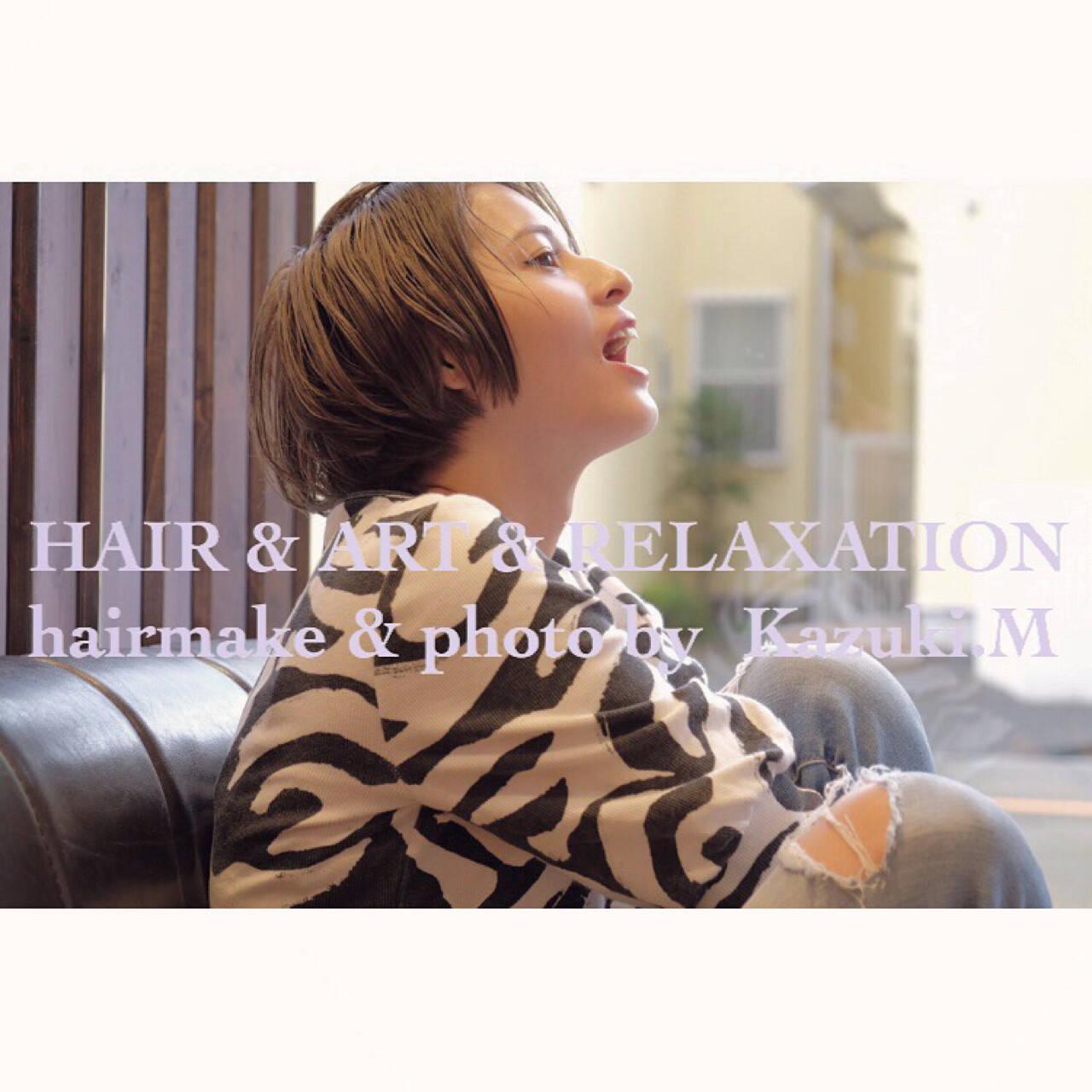 ショート アウトドア デート ガーリーヘアスタイルや髪型の写真・画像