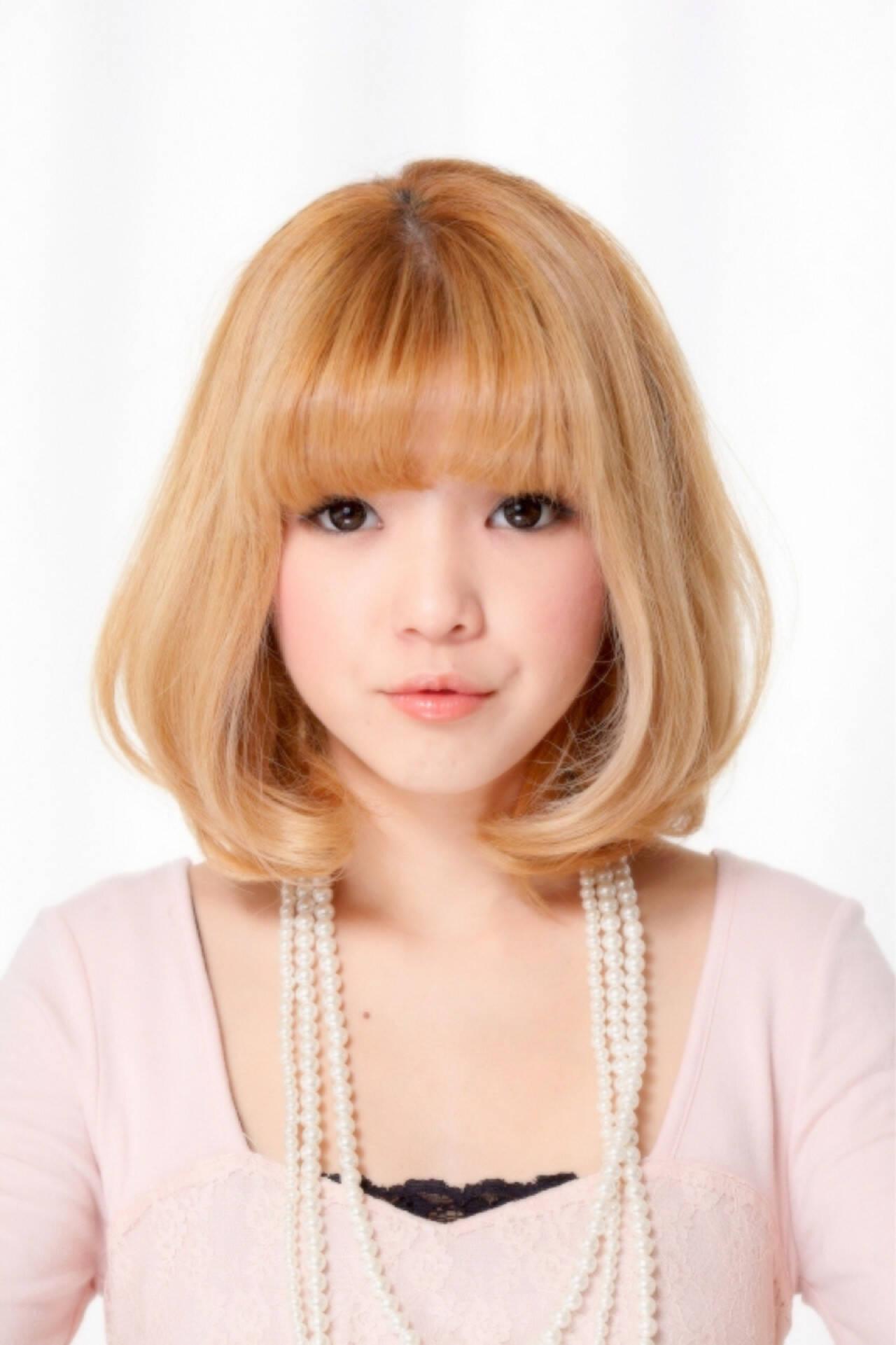 渋谷系 フェミニン 色気 ボブヘアスタイルや髪型の写真・画像