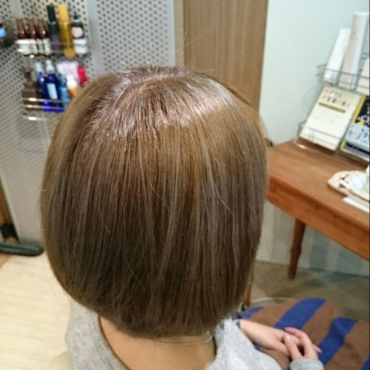 冬 外国人風 ボブ アッシュベージュヘアスタイルや髪型の写真・画像
