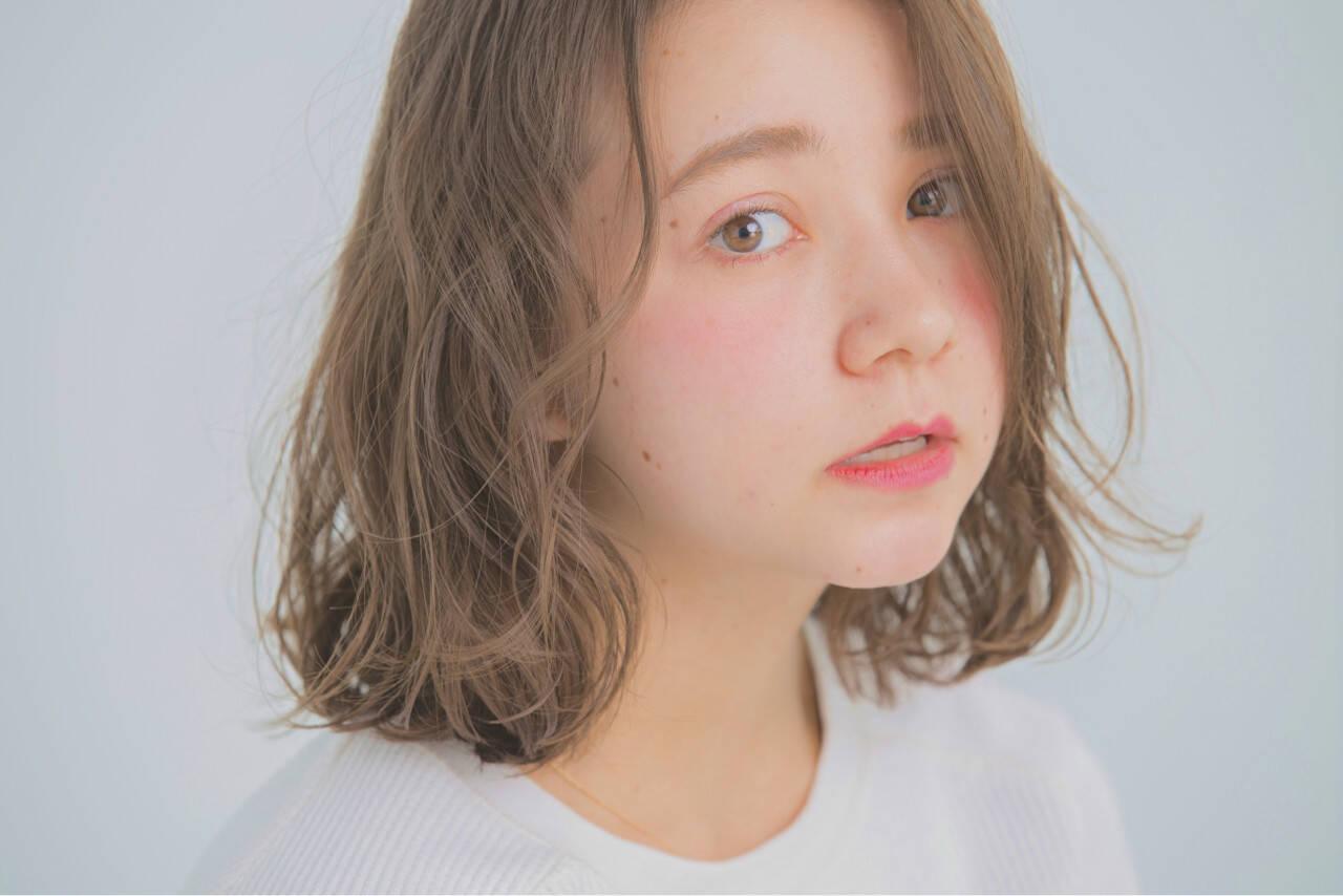 女子会 デート ミディアム タンバルモリヘアスタイルや髪型の写真・画像