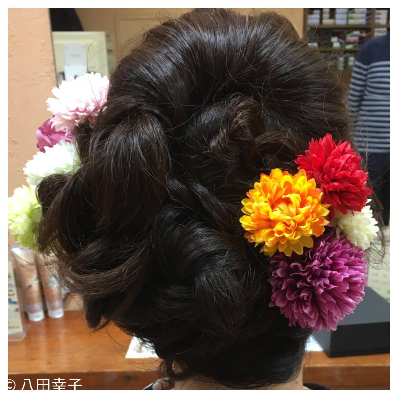 ヘアアレンジ 成人式 結婚式 着物ヘアスタイルや髪型の写真・画像