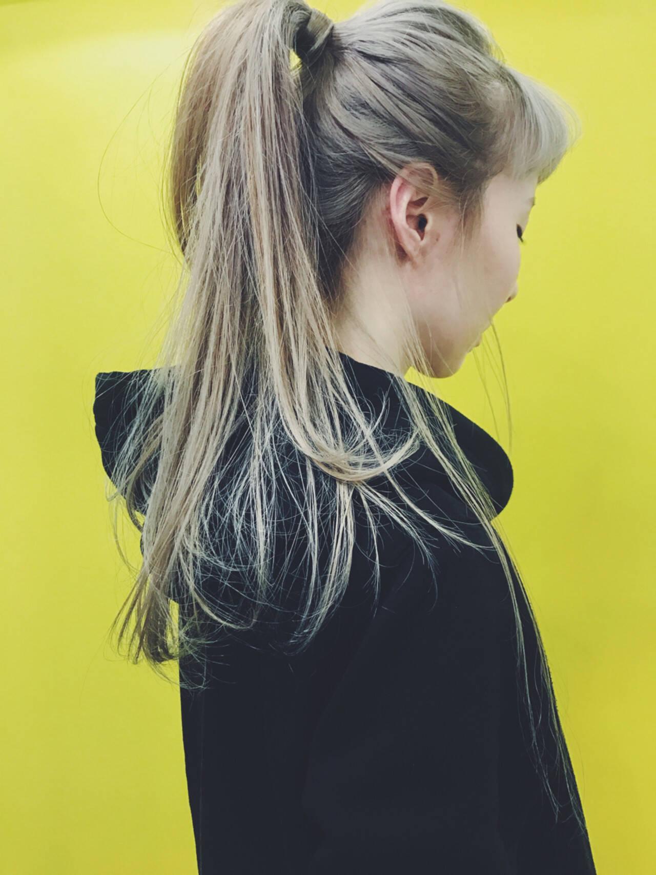 スポーツ ストリート ヘアアレンジ ロングヘアスタイルや髪型の写真・画像