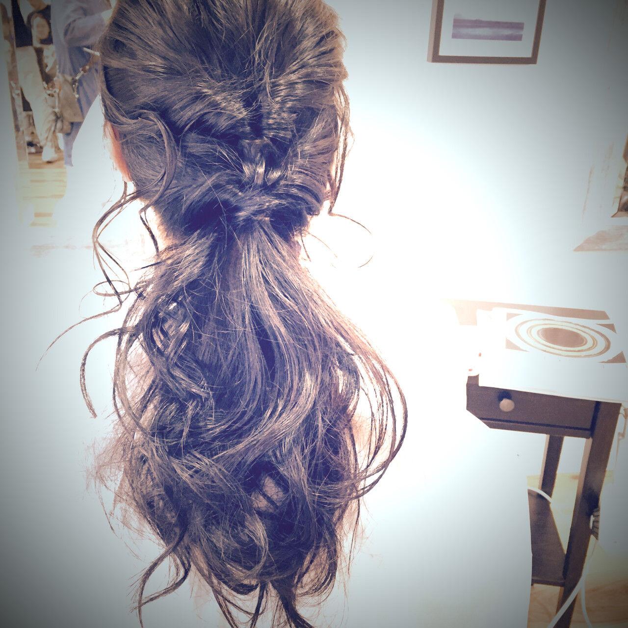 ラフ 簡単 くるりんぱ ヘアアレンジヘアスタイルや髪型の写真・画像