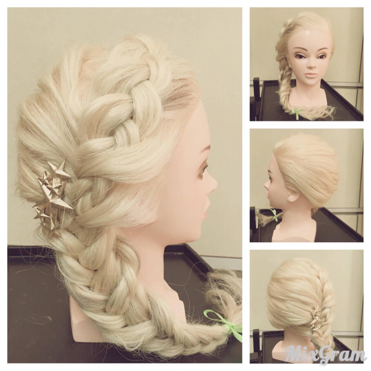 フィッシュボーン ガーリー ヘアアレンジ 大人女子ヘアスタイルや髪型の写真・画像
