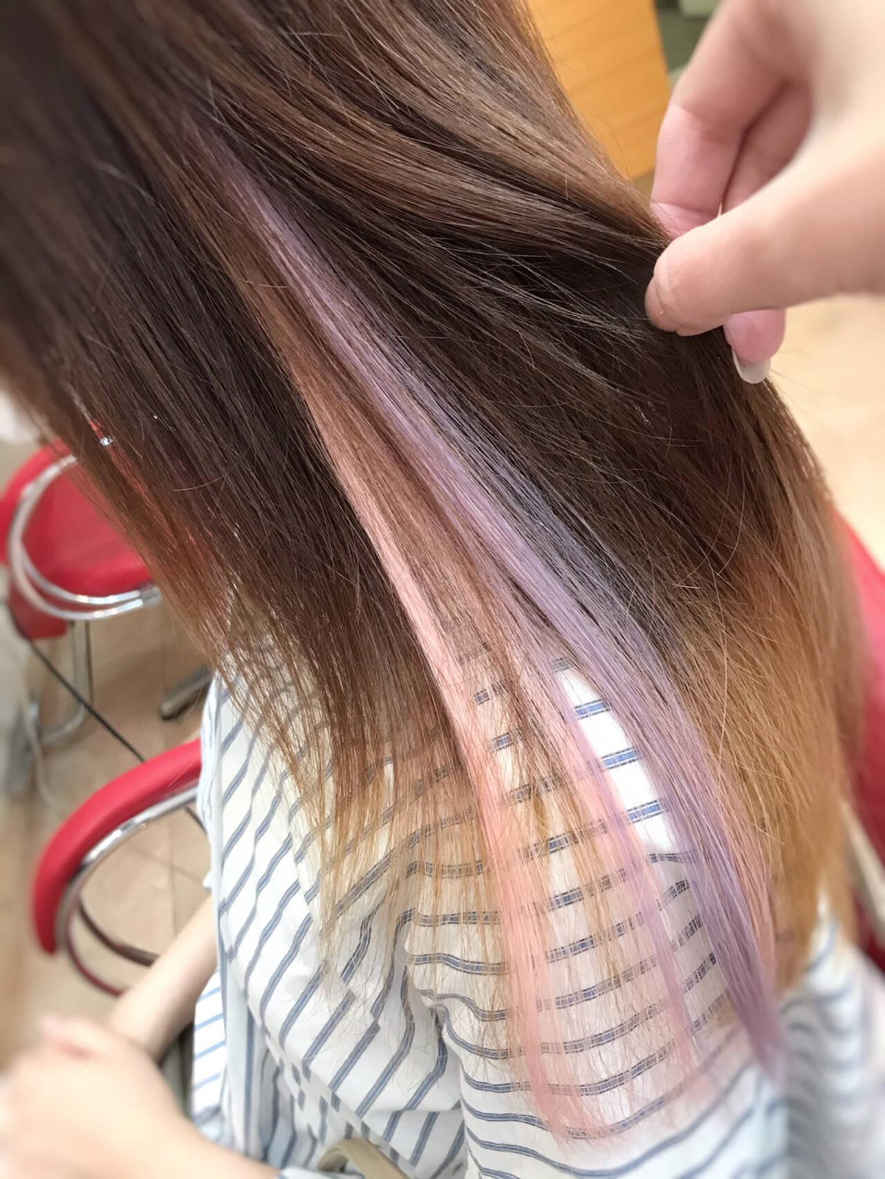 韓国ヘア エクステ ガーリー 夏ヘアスタイルや髪型の写真・画像