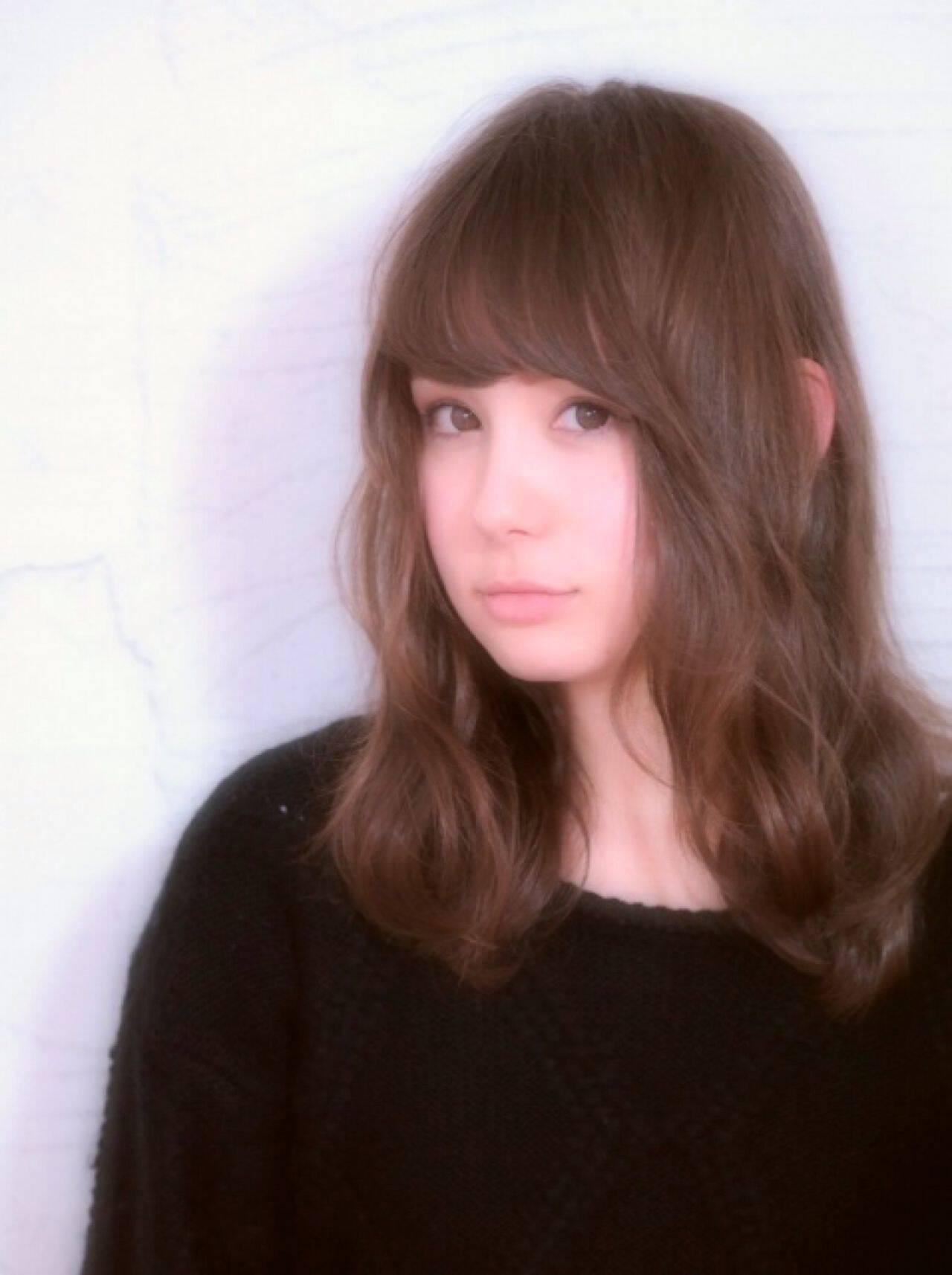丸顔 愛され ゆるふわ モテ髪ヘアスタイルや髪型の写真・画像