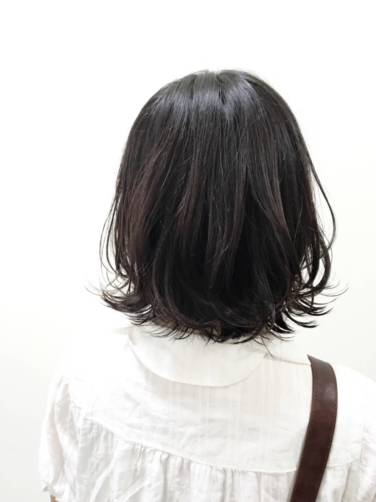 ストリート 黒髪 ボブ ウェットヘアヘアスタイルや髪型の写真・画像