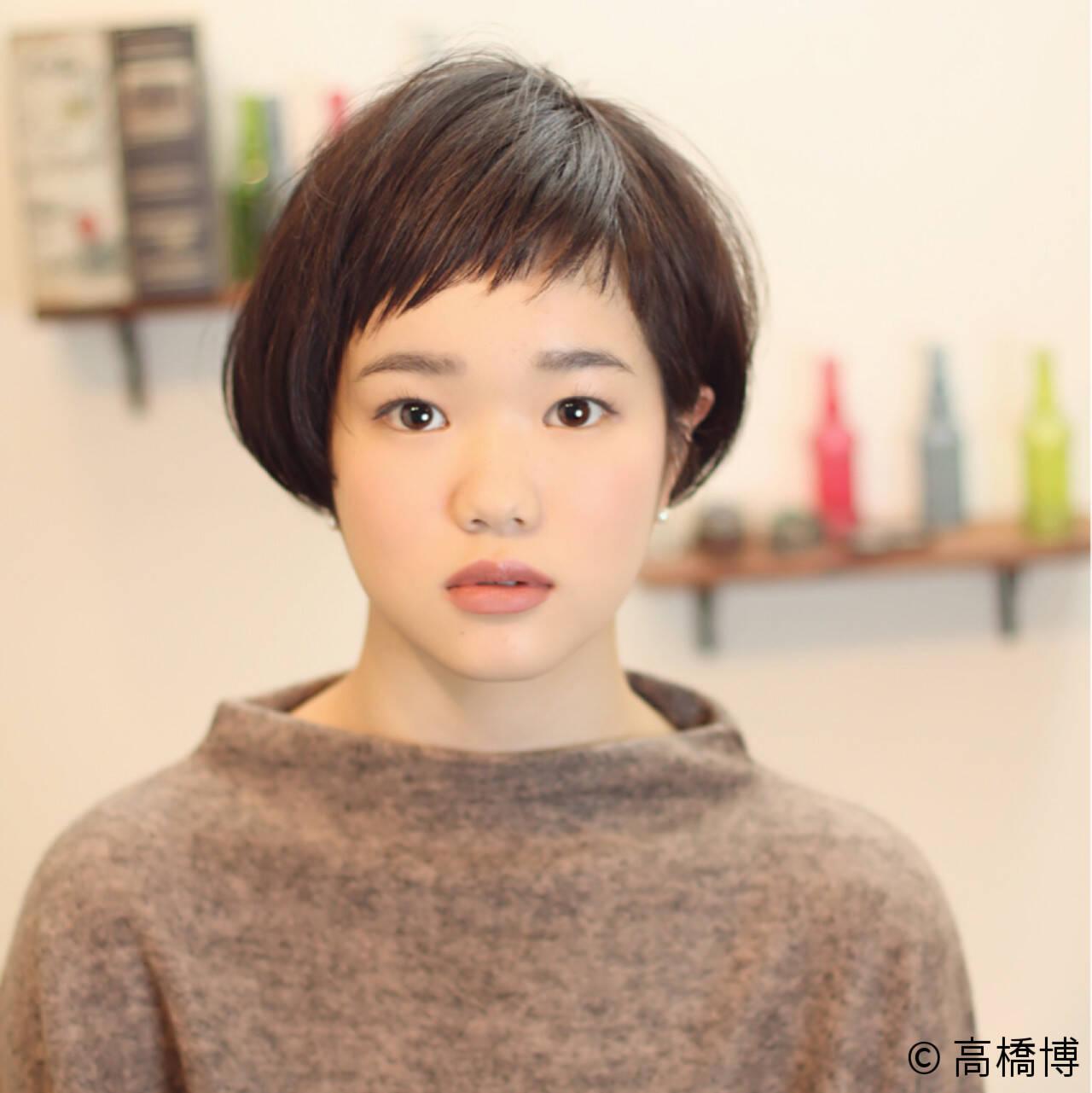ナチュラル 大人かわいい ショート ショートバングヘアスタイルや髪型の写真・画像