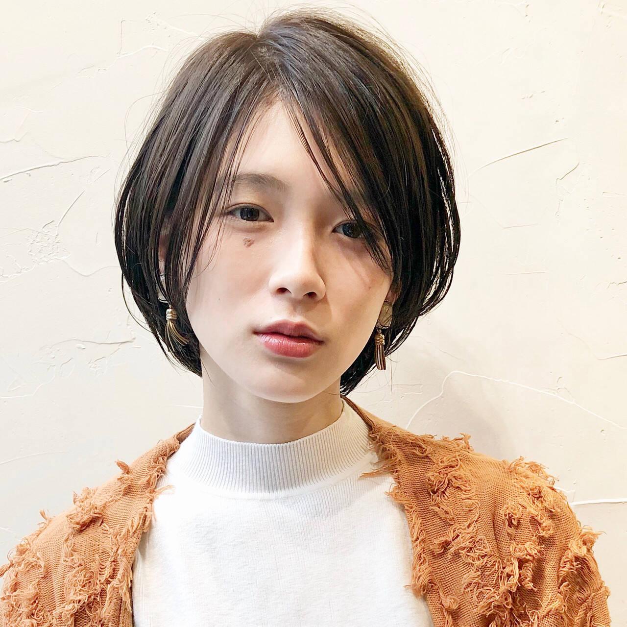 ミニボブ ショート ショートボブ 大人ショートヘアスタイルや髪型の写真・画像