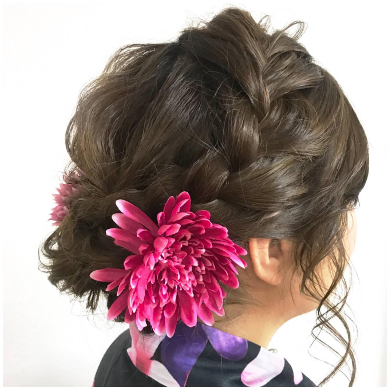 涼しげ 色気 フェミニン 和装ヘアスタイルや髪型の写真・画像