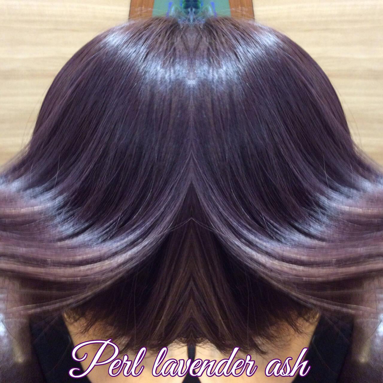 ボブ 透明感カラー ナチュラル可愛い ガーリーヘアスタイルや髪型の写真・画像
