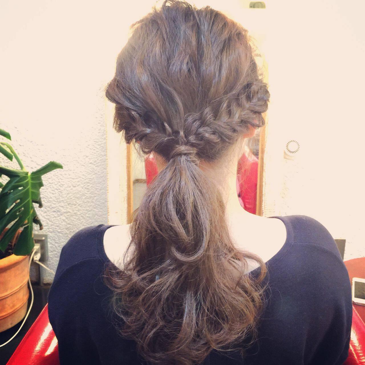ヘアアレンジ ストリート ウェーブ アップスタイルヘアスタイルや髪型の写真・画像
