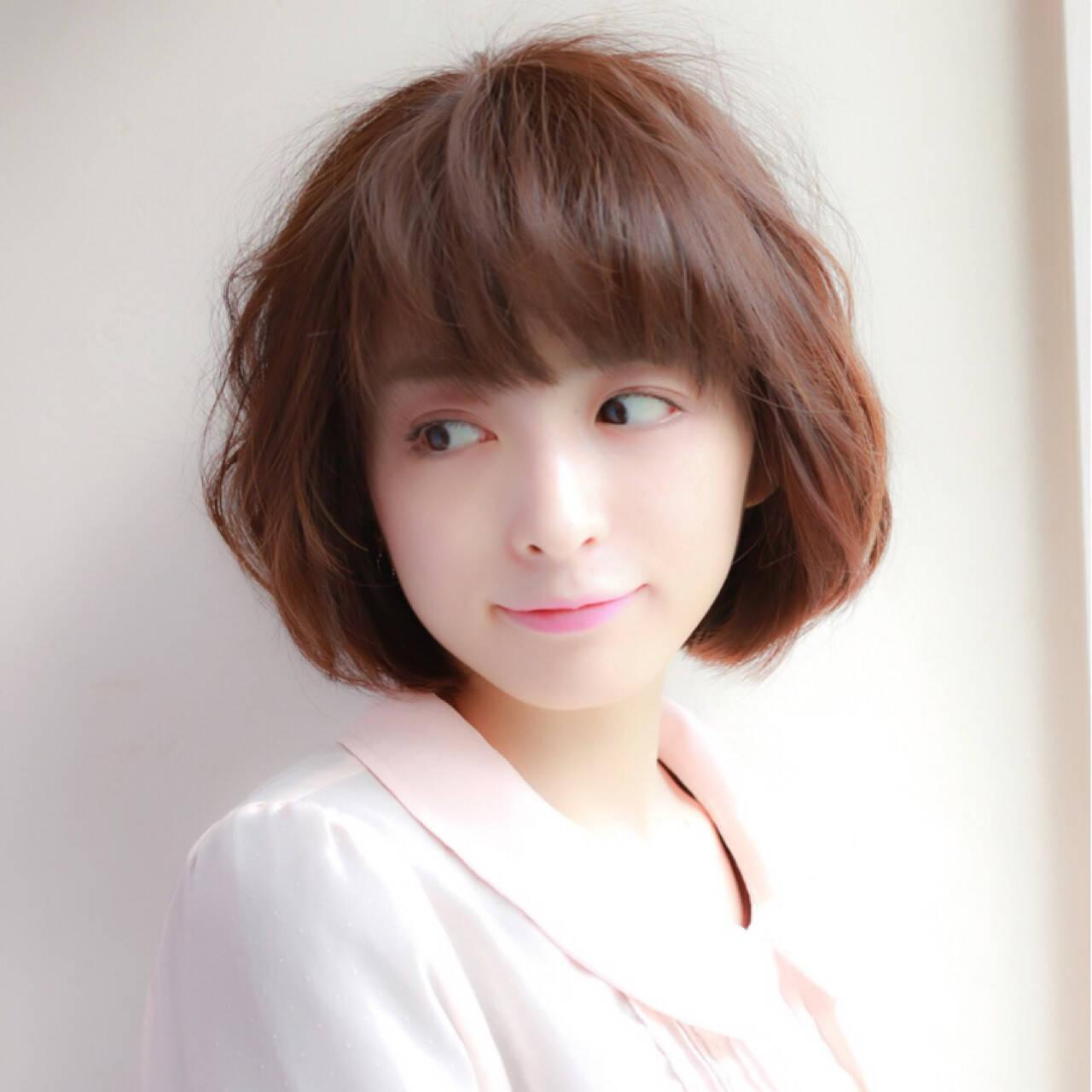 ボブ 大人女子 大人かわいい かわいいヘアスタイルや髪型の写真・画像