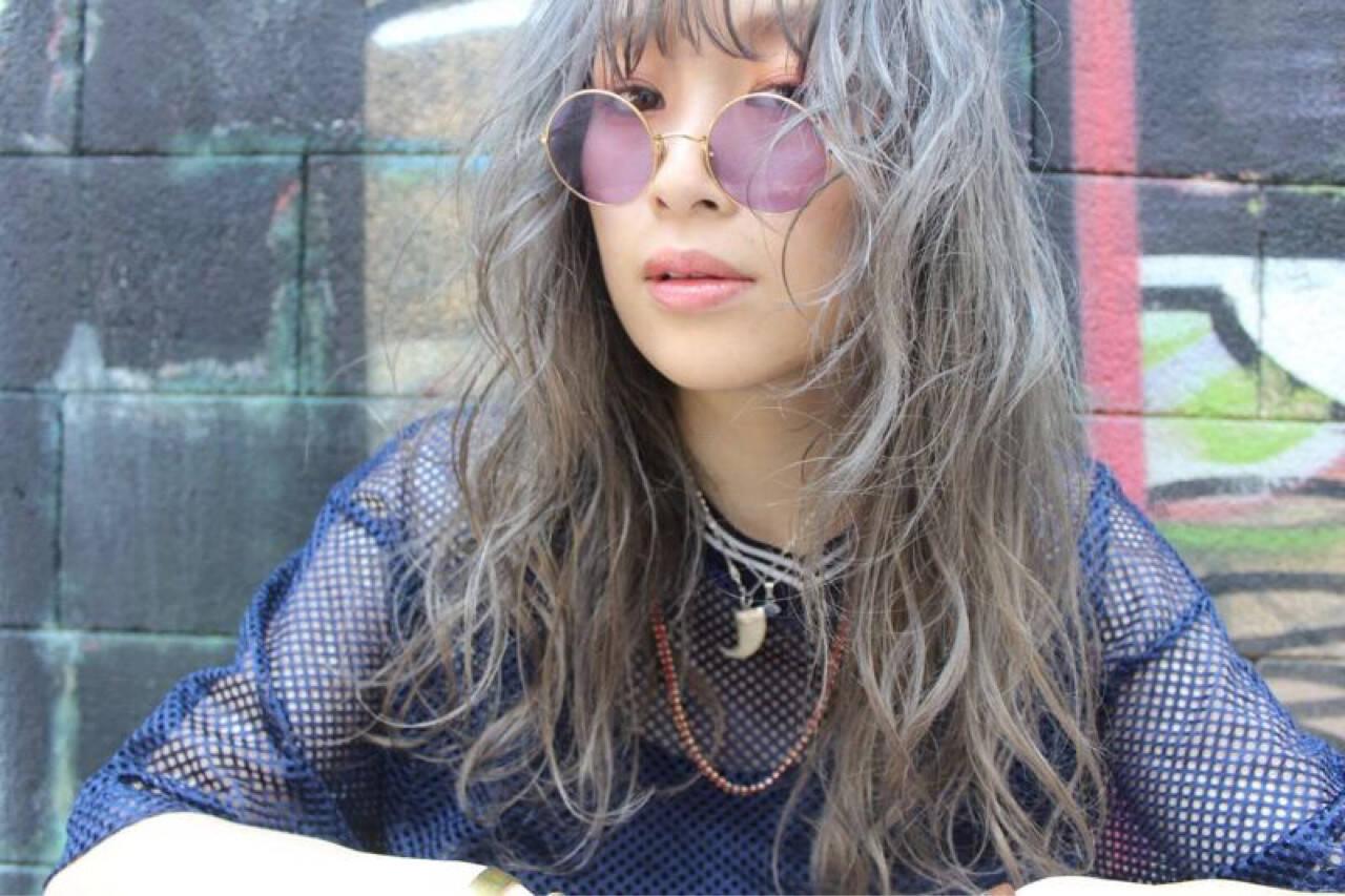 外国人風 ストリート セミロング ラフヘアスタイルや髪型の写真・画像