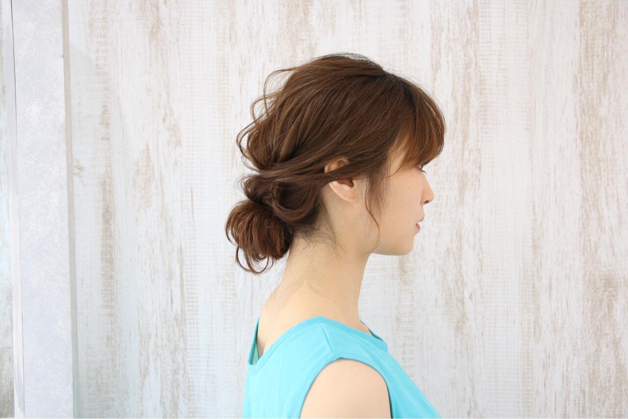 ロング 夏 大人かわいい 涼しげヘアスタイルや髪型の写真・画像