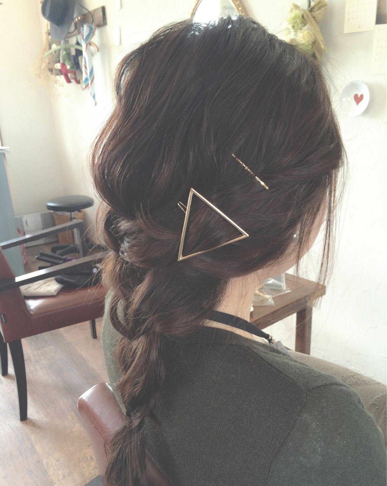大人かわいい ナチュラル 簡単ヘアアレンジ ロングヘアスタイルや髪型の写真・画像