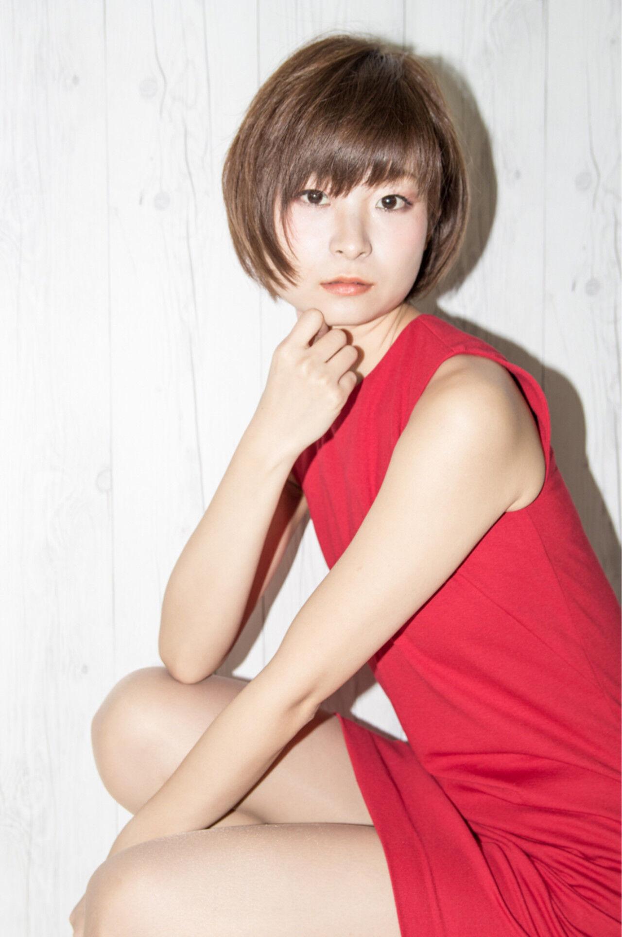 女子力 ショート 小顔 こなれ感ヘアスタイルや髪型の写真・画像