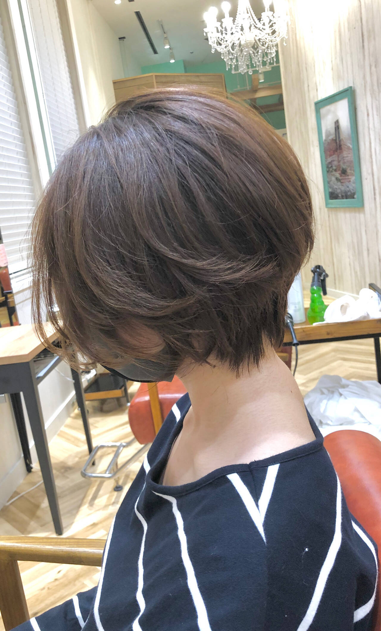 マッシュショート 暗髪 ナチュラル ショートヘアスタイルや髪型の写真・画像