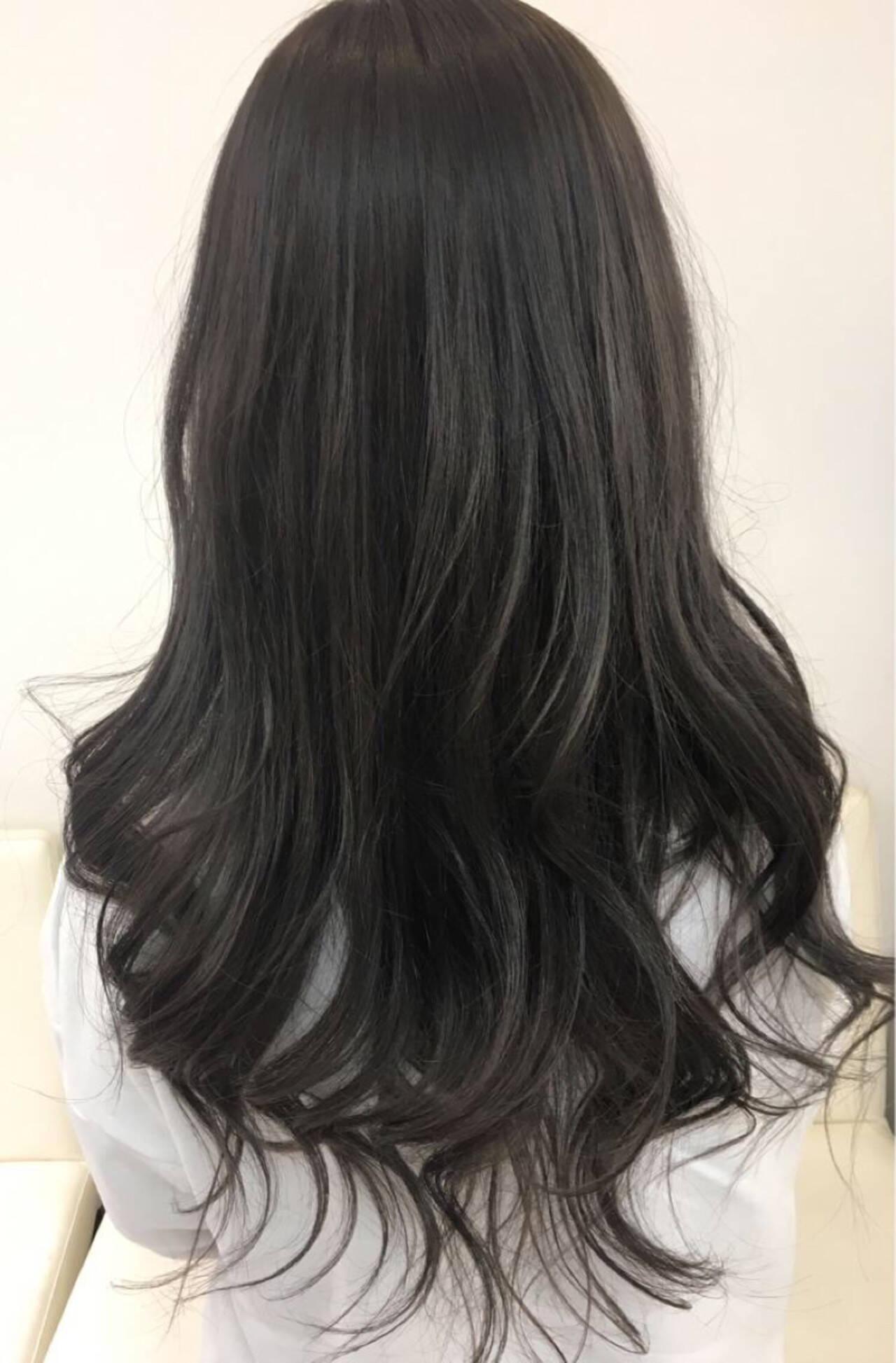 ナチュラル 透明感 イルミナカラー アッシュヘアスタイルや髪型の写真・画像