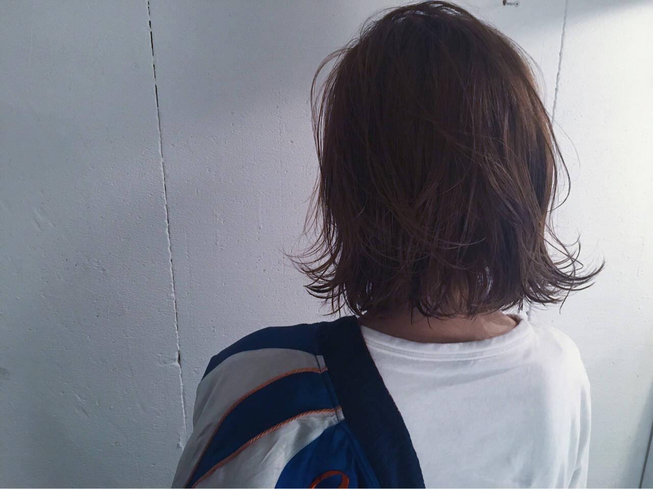 グレージュ ストリート ボブ 外国人風ヘアスタイルや髪型の写真・画像