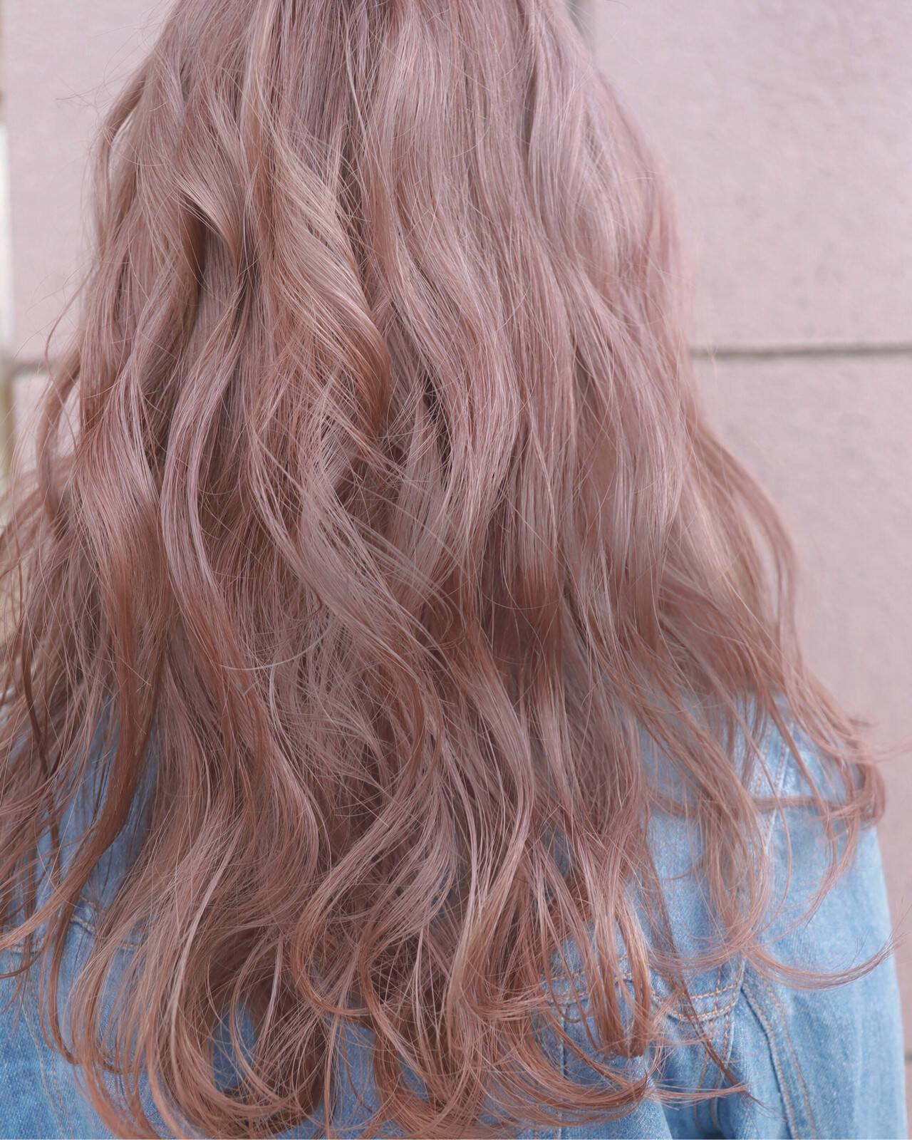 バレイヤージュ ナチュラル ロング 学生ヘアスタイルや髪型の写真・画像