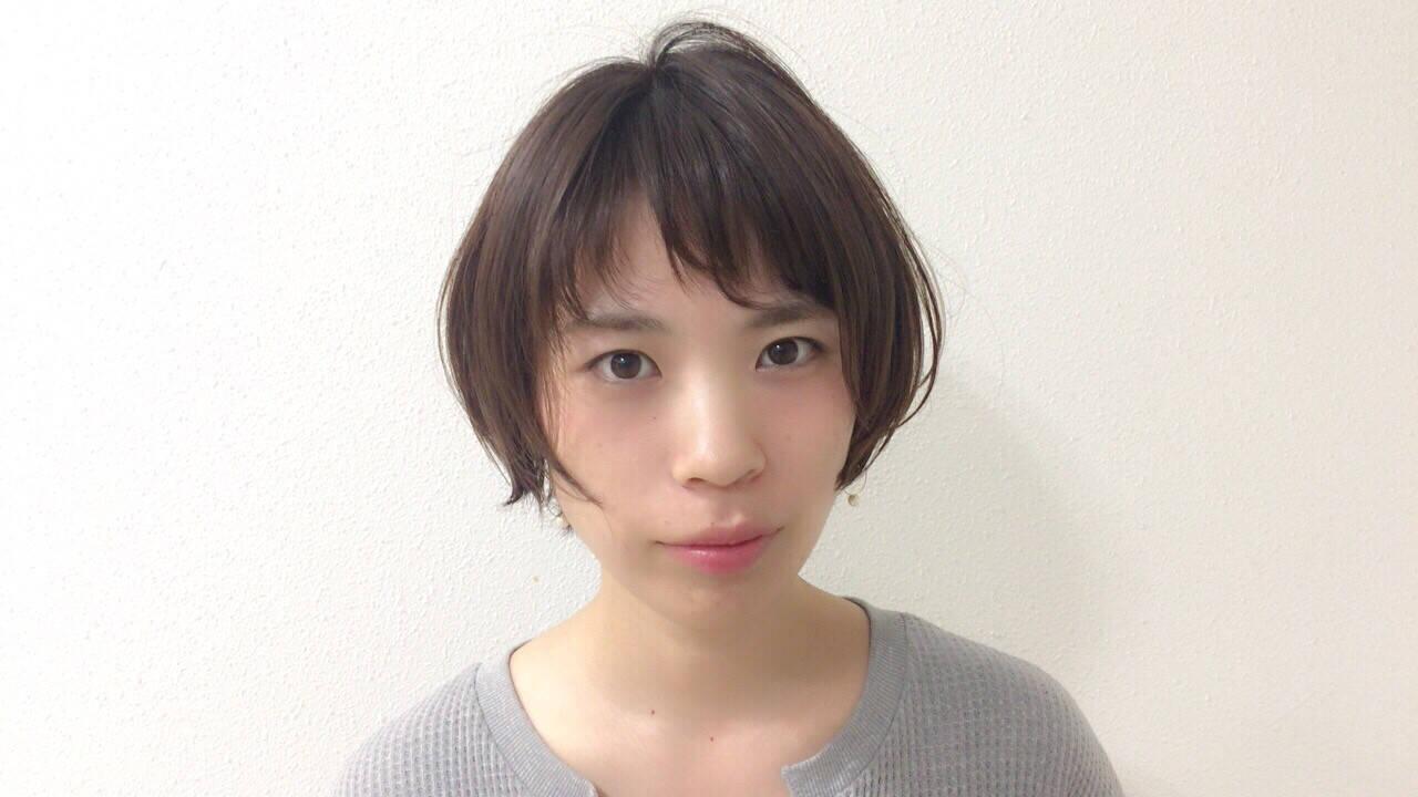 涼しげ 大人かわいい ナチュラル ショートヘアスタイルや髪型の写真・画像