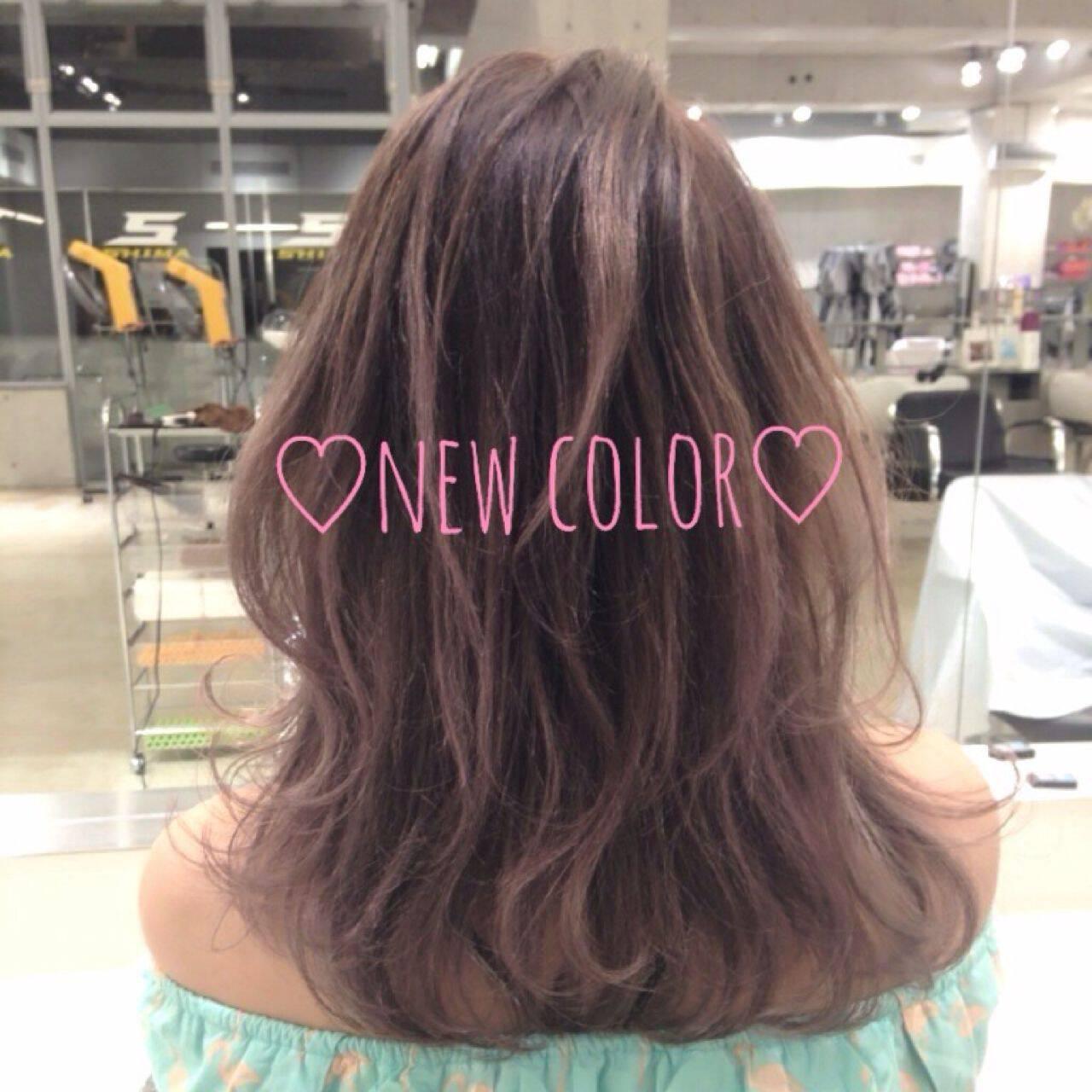 グラデーションカラー 外国人風 ローライト ブラウンベージュヘアスタイルや髪型の写真・画像