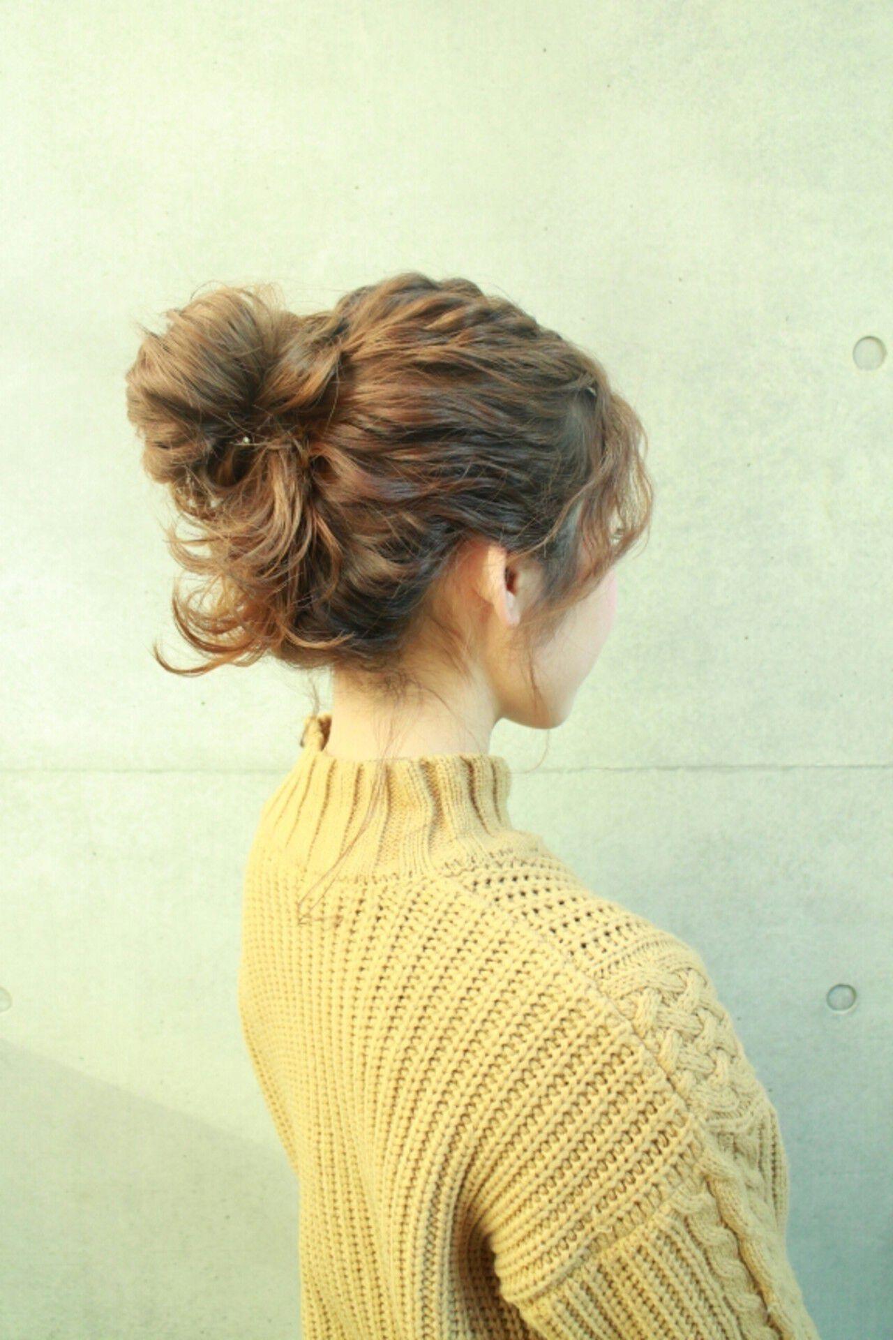セミロング ショート 外国人風 ヘアアレンジヘアスタイルや髪型の写真・画像