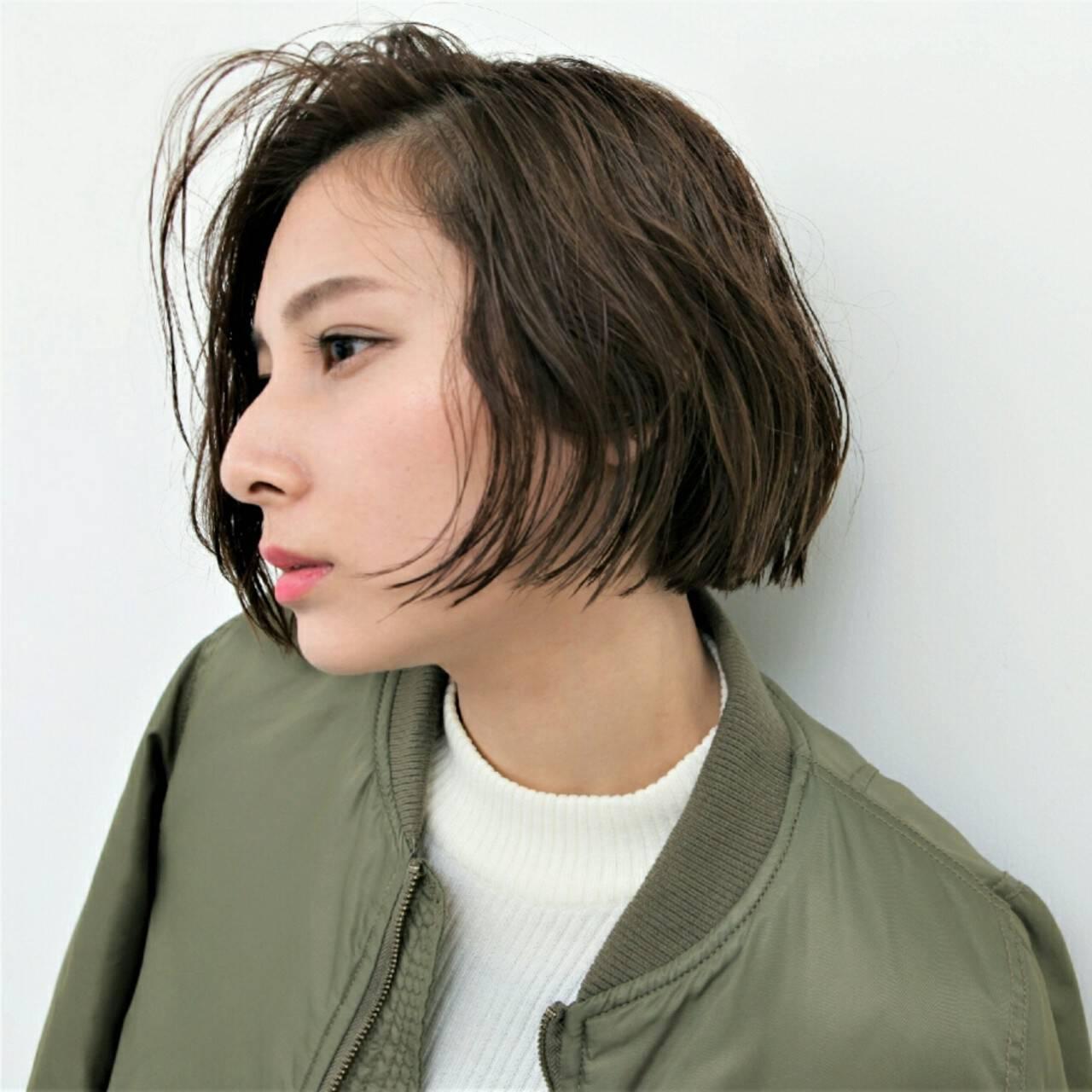 暗髪 ニュアンス アッシュ 外国人風ヘアスタイルや髪型の写真・画像