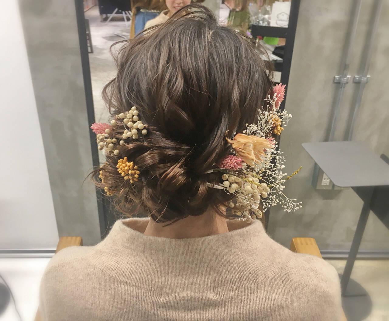 成人式 謝恩会 フェミニン セミロングヘアスタイルや髪型の写真・画像