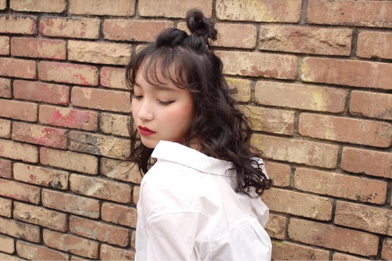 かわいい ガーリー カール ヘアアレンジヘアスタイルや髪型の写真・画像
