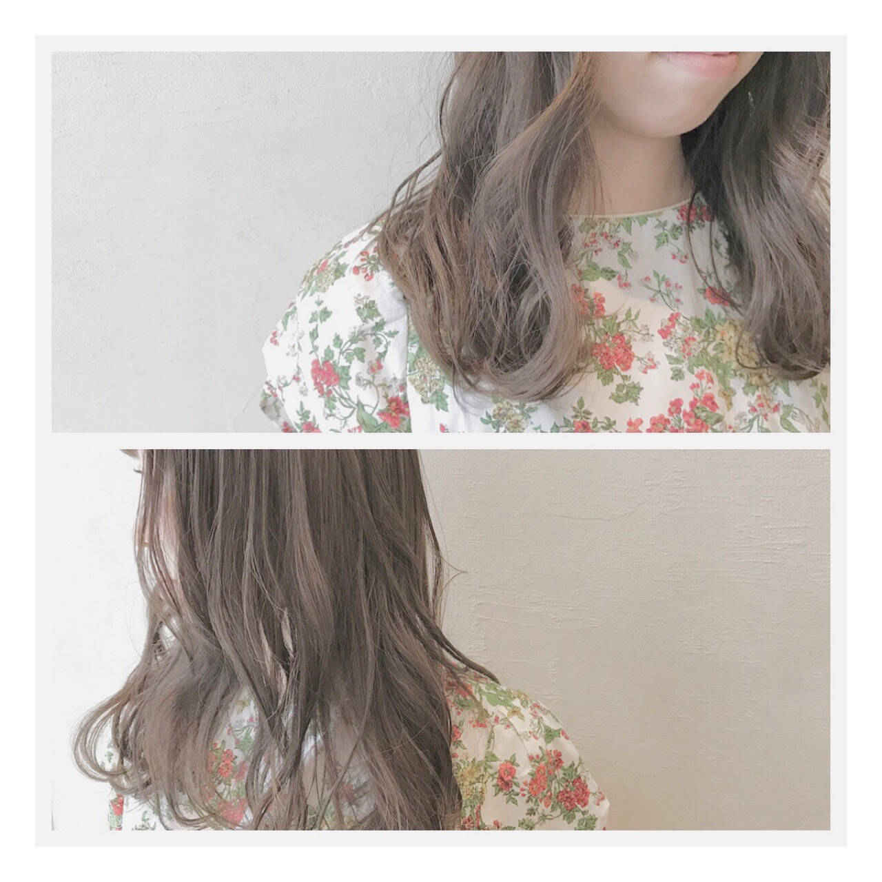 グレージュ ウェーブ アンニュイ デートヘアスタイルや髪型の写真・画像