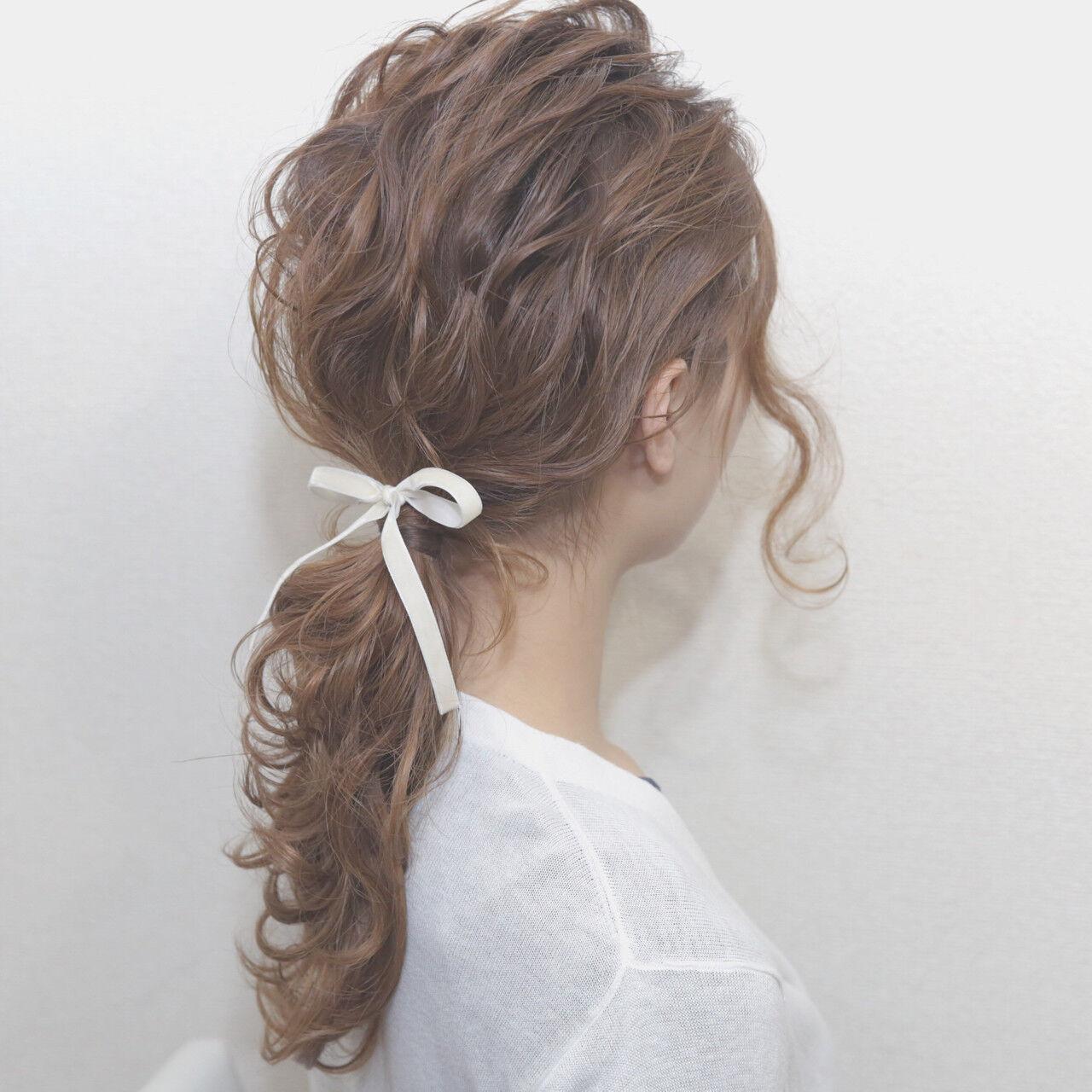 簡単ヘアアレンジ ヘアアレンジ モテ髪 愛されヘアスタイルや髪型の写真・画像