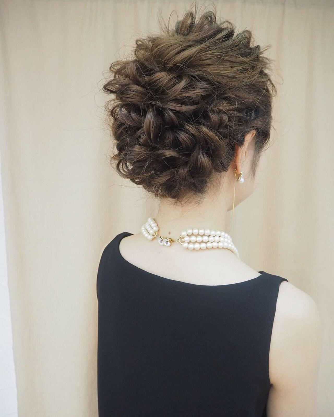ロング 成人式 編み込み 結婚式ヘアスタイルや髪型の写真・画像