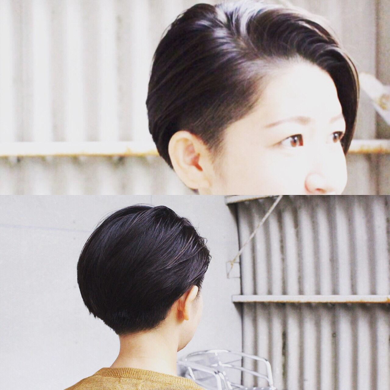 ショート 刈り上げ ストリート アシメバングヘアスタイルや髪型の写真・画像