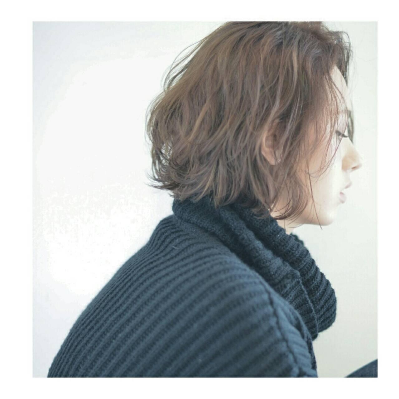 小顔 ボブ ミルクティー 外国人風ヘアスタイルや髪型の写真・画像